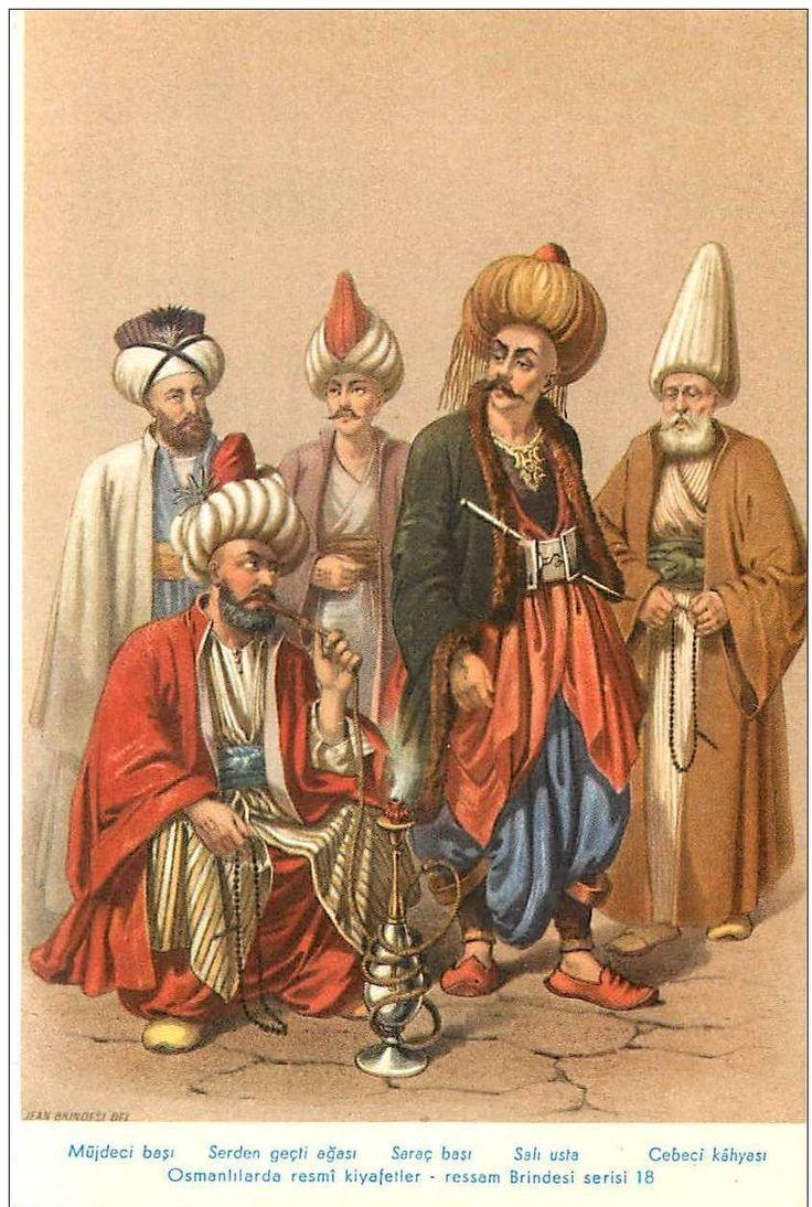 Musdedji-Bachi (porte-nouvelles). Saraz-Bachi (sellier du 64e bataillon). Serden-Ghesti-Agassi, Chef des Volontaires. Sali-Ousta, Capitaine du 1er bataillon. Djebedjilerin Kiayassi, Général de l'Artillerie