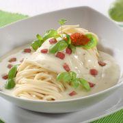 Spaghetti in tomatenroomsaus en wodka