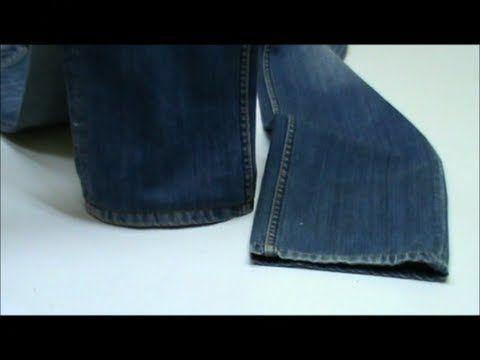 Bajo original de un pantalón vaquero al cortar el largo