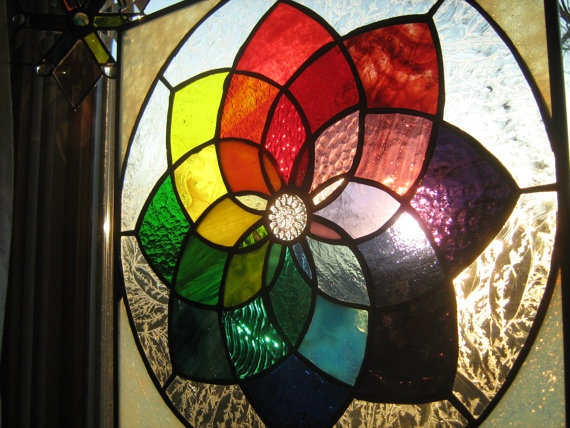 Colorific colorful stained glass color wheel by stanfordglassshopStained Glass