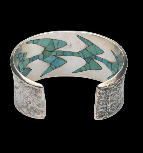 Cuff | Charles Loloma. Sterling silver, turquoise.  c. 1960