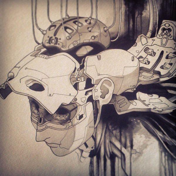 Ghost in the Shell fan art painting by Uken.deviantart.com ...