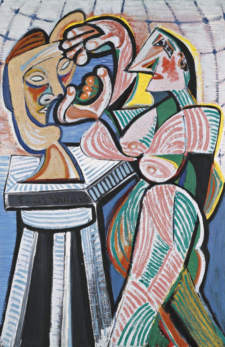'Sculptress In The Studio (Sochařka V Ateléru)' by Emil Filla, 1946