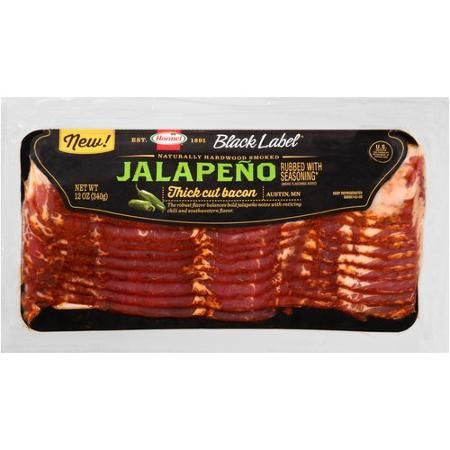 Hormel Black Label Jalapeno Thick Cut Bacon, 12 oz