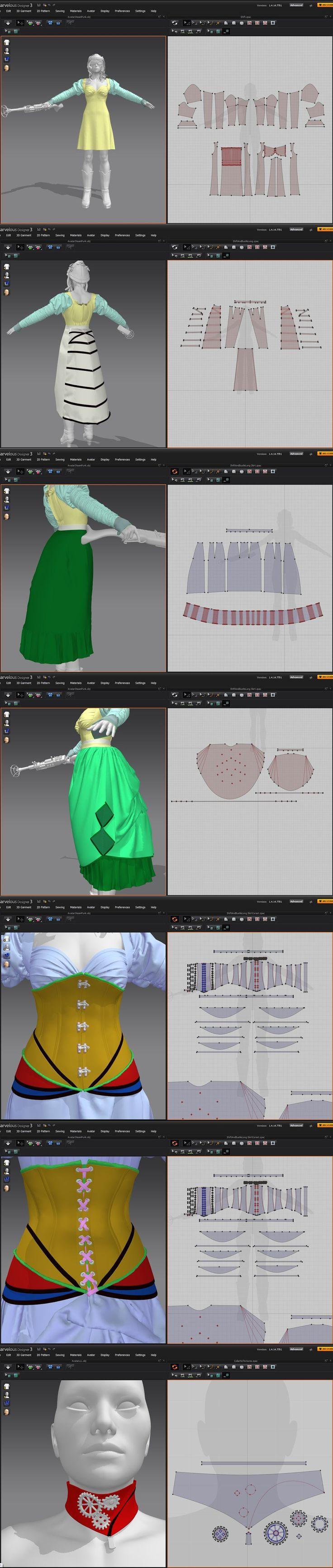 SteamPunk MD3 Patterns by dylazuna.deviantart.com on @DeviantArt