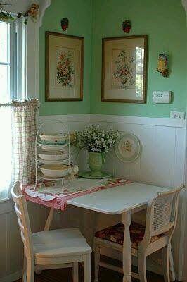 Tiny corner table
