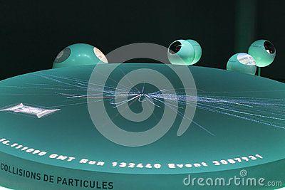 Cern, an exhibition building inside.  Demonstration of the creation of the universe. http://www.smartglassinternational.com/step-inside-the-globe-cern-geneva/  http://www.youtube.com/watch?v=VJkeh5S9Ow0