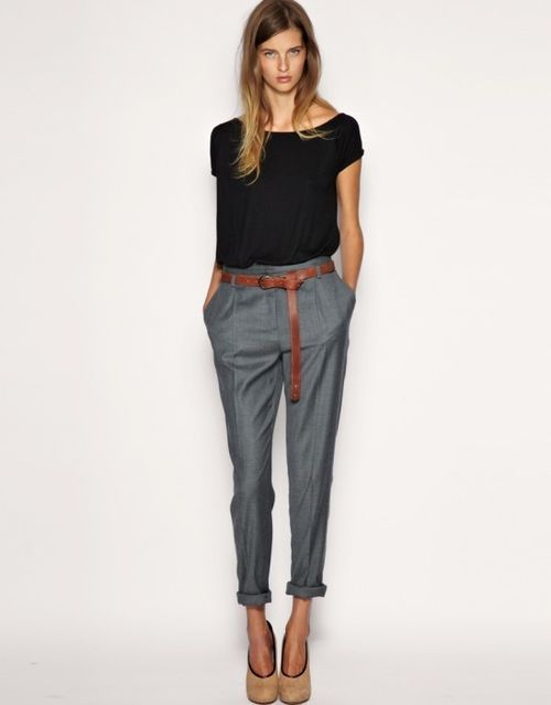 175640454187536805_uHTnfJCt_f: Fashion,  Blue Jeans, Trousers, Pants,  Denim, Tomboys Style, Work Outfits, Offices Wear, Business Casual