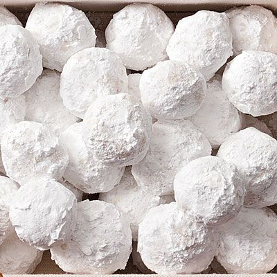 Almond Snowballs | These fragrant, nutty cookies are finished with a coating of powdered sugar.