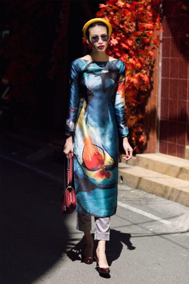 Không gì Tết hơn việc khoe dáng trong những thiết kế áo dài cách tân ai mặc cũng đẹp này - Ảnh 16.