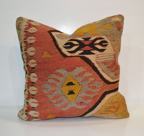 Bohemian Home Decor Kilim Cushion cover Rustic Pillow Sham 40x40 Shabby chic Boho Cushion 16x16 Accent Pillow Euro sham Country Home Decor on Etsy, $48.00