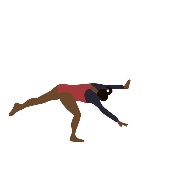 New trendy GIF/ Giphy. animation illustration olympics gymnastics rotoscope simone biles. Let like/ repin/ follow @cutephonecases