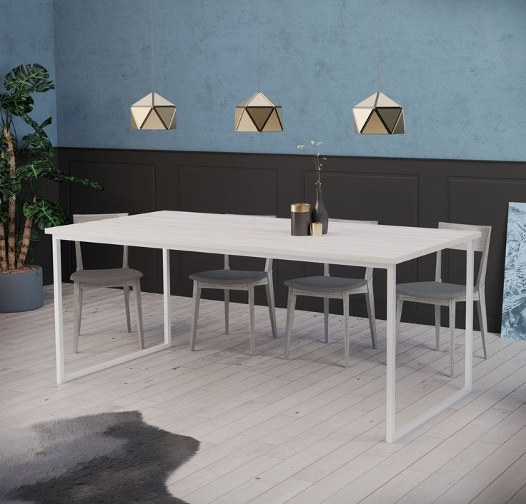 Choose a larger dining table to create a comfortable family gathering space. A place where family and friends can come together to prepare food, study and play. Dining table BASIC FEM, Scandinavian design.