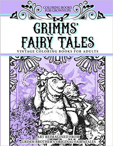 Coloring Books For Grownups Grimms' Fairy Tales: Vintage Coloring Books for Adults Art Reimagined from Grimm Brother's Original Fairy Tales - https://tryadultcoloringbooks.com/coloring-books-for-grownups-grimms-fairy-tales-vintage-coloring-books-for-adults-art-reimagined-from-grimm-brothers-original-fairy-tales/ - #AdultColoringBooks, #Fantasy