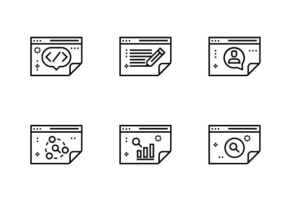 Bold outline vector icons. #LineIcons #VectorIcons #seoIcon