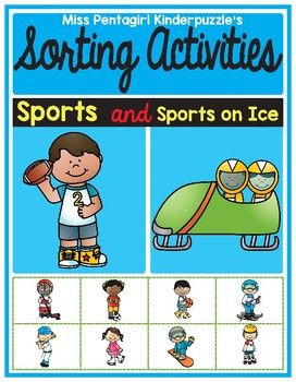 In this product, the students will be required to sort the pictures with sports and sports on the ice.You will have posters for group activity, which you can use it as centers, or you can use it with the class magnetic board. And also available in worksheets, both colored and non-color for easy print and go.Please download the preview for a better look.