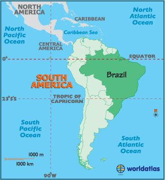 Map of Brazil - South American Countries, Brazil Information Maps History - World Atlas