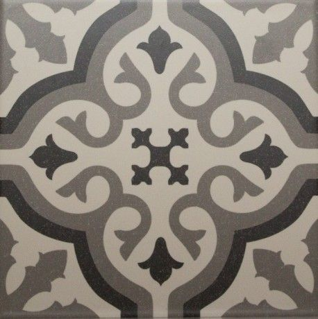 Carrelage imitation carreau ciment sol et mur blanc 20 x 20 cm - FL0115002 - 35€ m2
