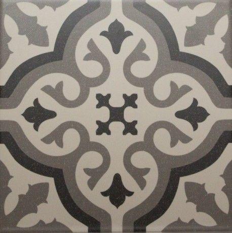 Carrelage imitation carreau ciment sol et mur blanc 20 x 20 cm - FL0115002 - 35€ m2
