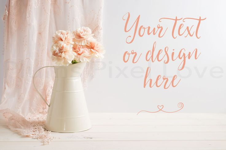 Styled Stock Photos | carnations | lace | instagram | Overlay text | Digital Image | business promotion | cream metal jug | feminine SSP61 by plumspixellove on Etsy