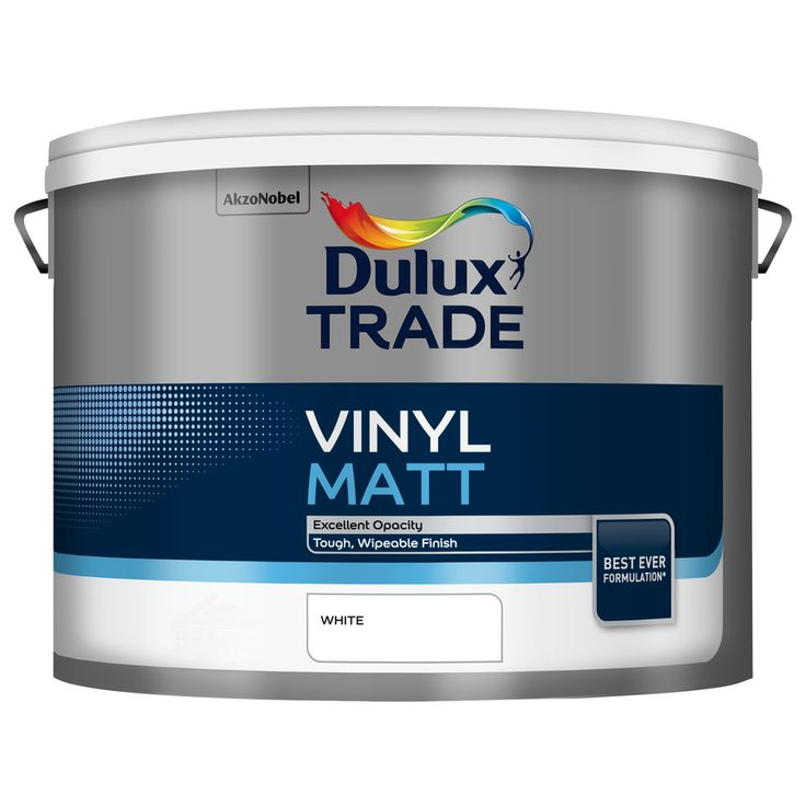 Dulux Trade Vinyl Matt White 10L