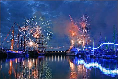 Fireworks at Whitehaven Harbour