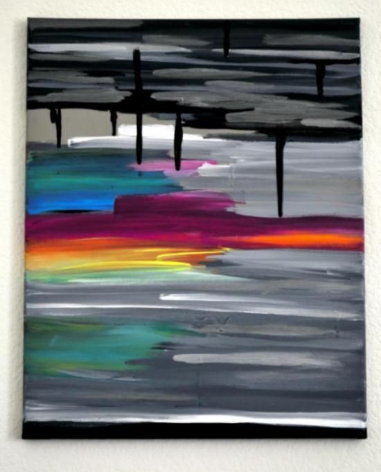 Easy DIY Abstract Sunset Painting from Design Confidential