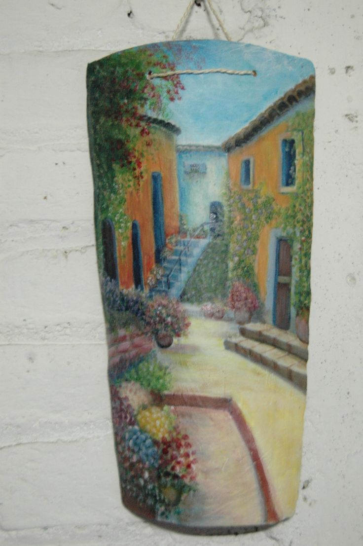 M s de 1000 im genes sobre telhas en pinterest arte - Pintura acrilica manualidades ...