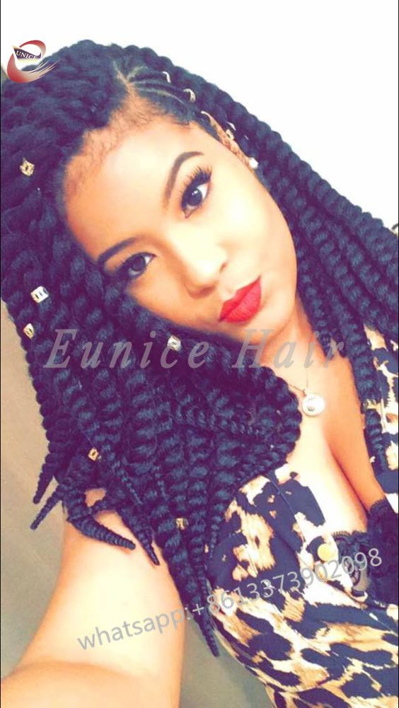 aliexpress Fake Hair Bundles deals African Hair Braiding Curly Crochet Hair Extensions sexy Synthetic Havana Mambo Twist Wavy