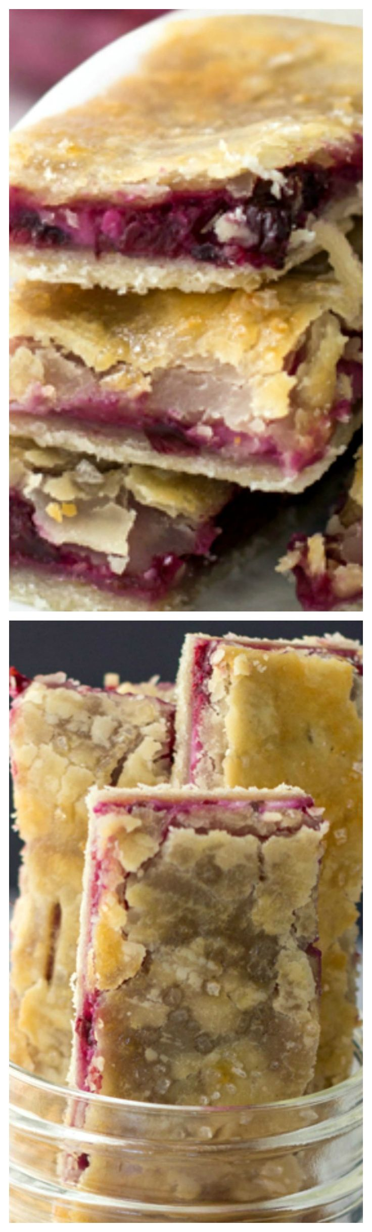 Blackberry Cream Cheese Pie Dippers ~ A flaky pie crust filled with creamy blackberry cream cheese spread and baked until golden and crispy