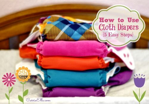 How to Use Cloth Diapers in 5 Simple Steps - Carrie Elle | Carrie Elle