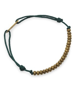 Isabel Marant - Trådarmbånd med sølv perler - grøn - YouHeShe.com