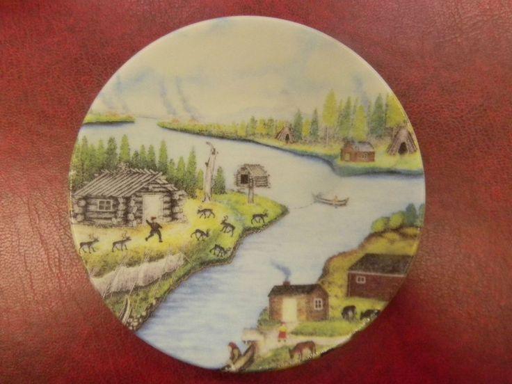 """Arabia Vintage Wall Plate"""" Lapp village"""" Design Andreas Alariesto 49"""