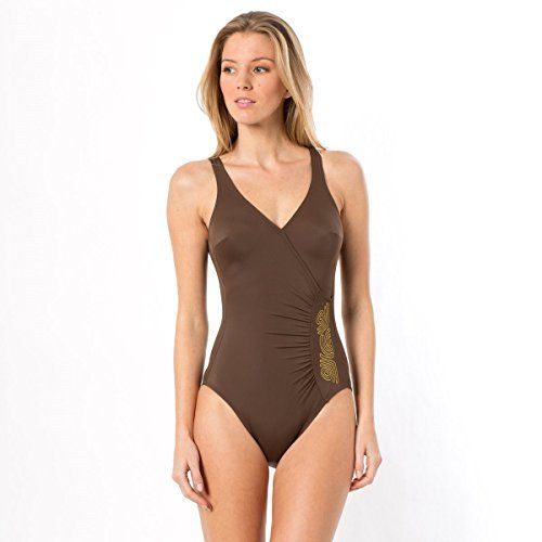 Anne Weyburn Donna Costume Da Bagno Taglia 42 Marrone La Redoute http://ebay.to/1QypuRM