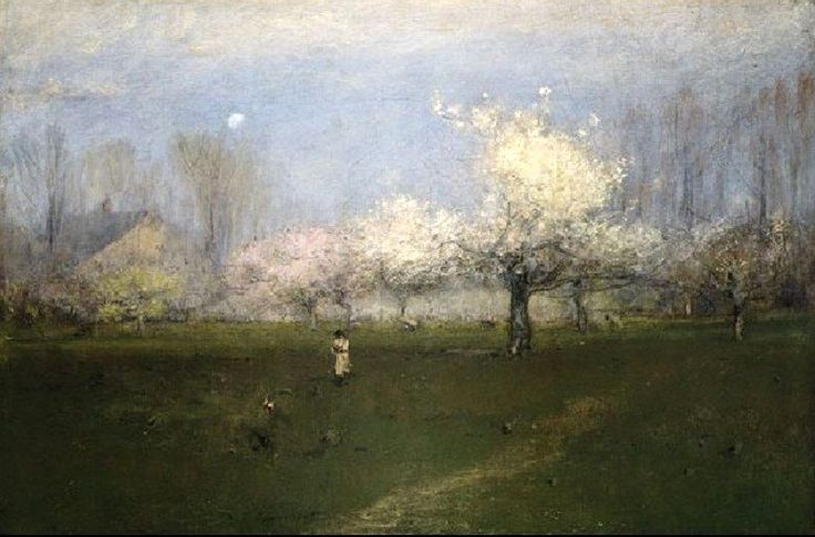 George Inness Spring Blossoms, Montclair, New Jersey c. 1891