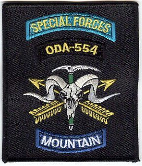 5th Special Forces Group Pocket Patches Operational Detachment A-554 B Company, 2nd Battalion