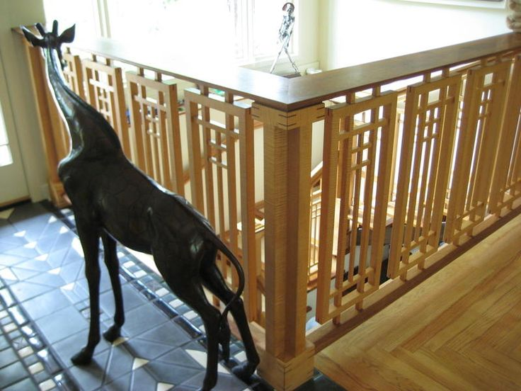 Foyer Staircase Quest : Frank lloyd wright railing rip off on collectors quest