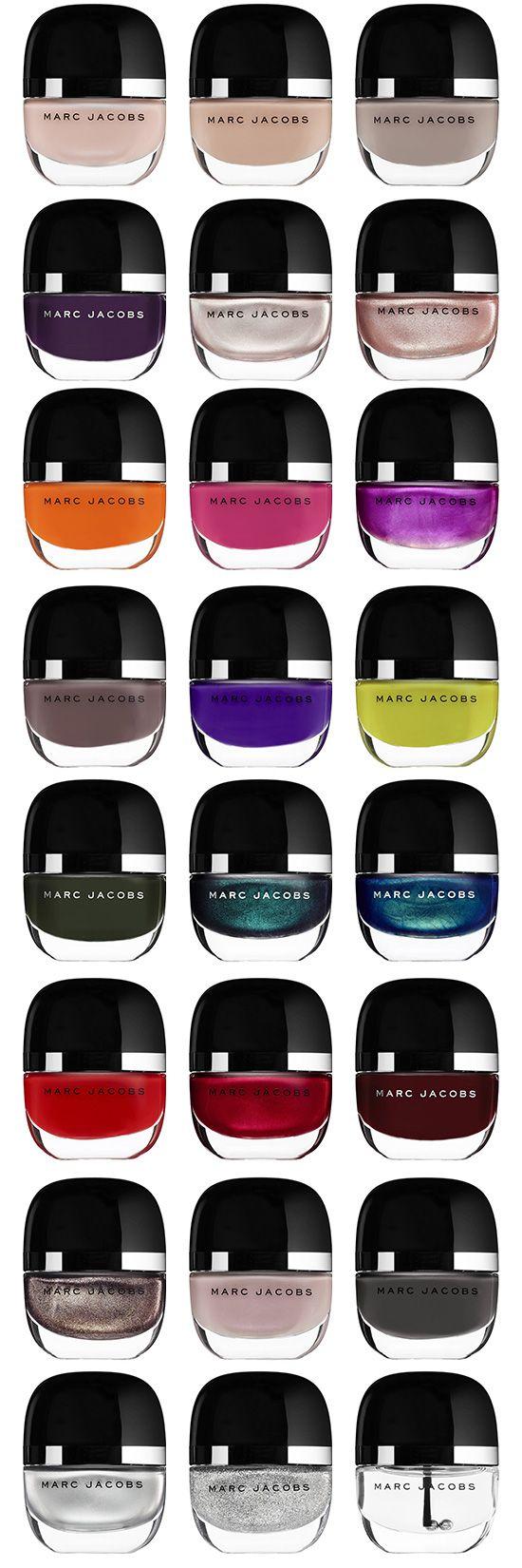 Full spectrum of Marc Jacobs Beauty Enamored Hi-Shine Nail Lacquer, Nail Polish