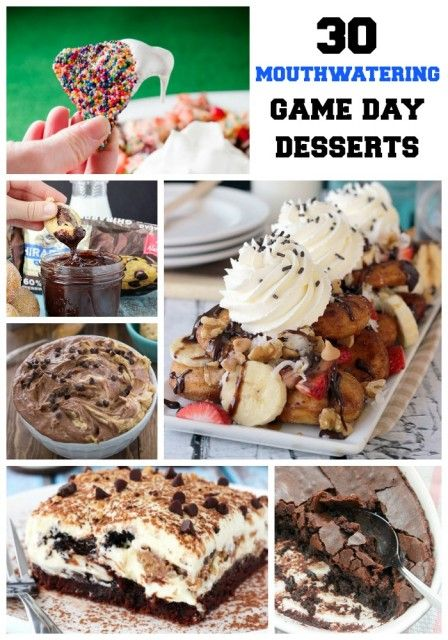 30 Mouthwatering Game Day and Superbowl Desserts. These are the BEST most DROOLWORTHY recipes from your favorite food bloggers.