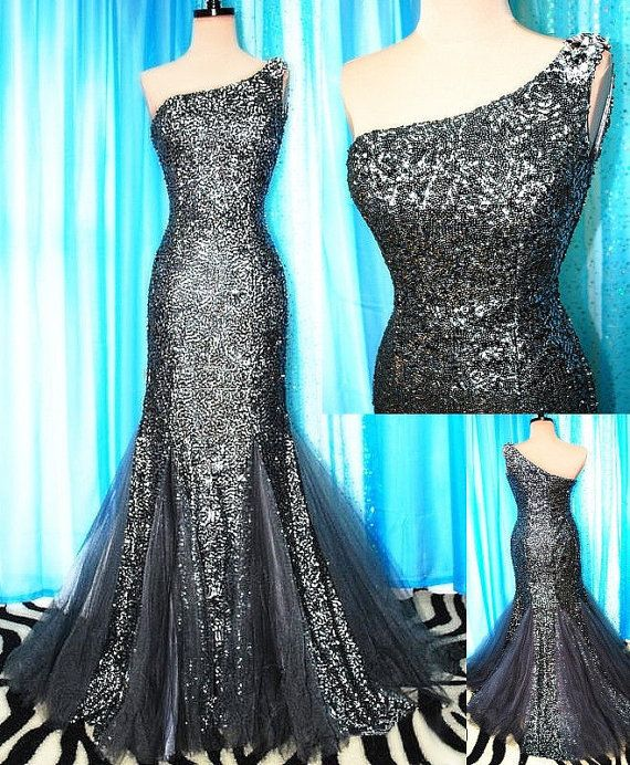 custom color   mermaid prom dress  One shoulder by sunpeng2011, $199.00
