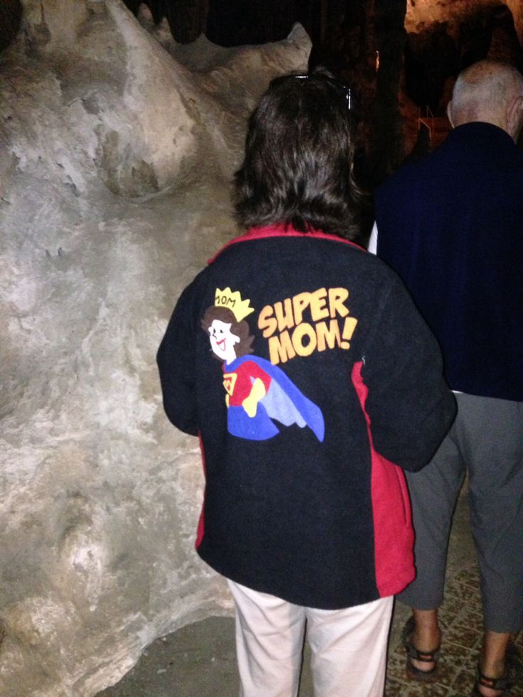 We found Super Mom in the caves.