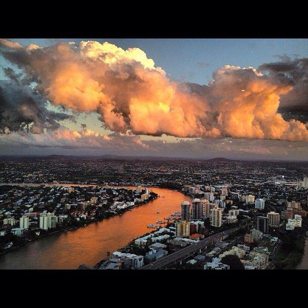 Amazing sunset in Brisbane #Australia