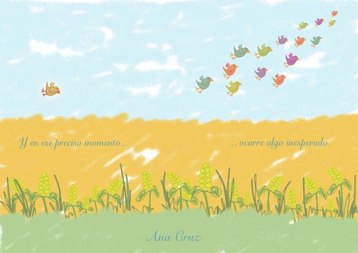 Acuarela #dibujo #pájaro #Mindfulness #libertad