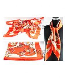 Oranje sjaal met koets
