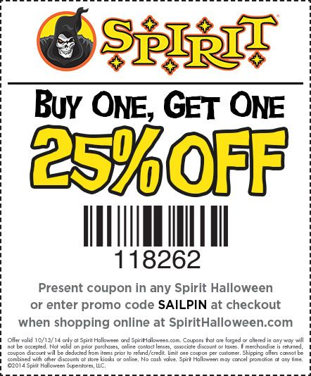 graphic about Spirit Halloween Printable Coupon titled Spirit halloween 25 off printable coupon : Playstation in addition