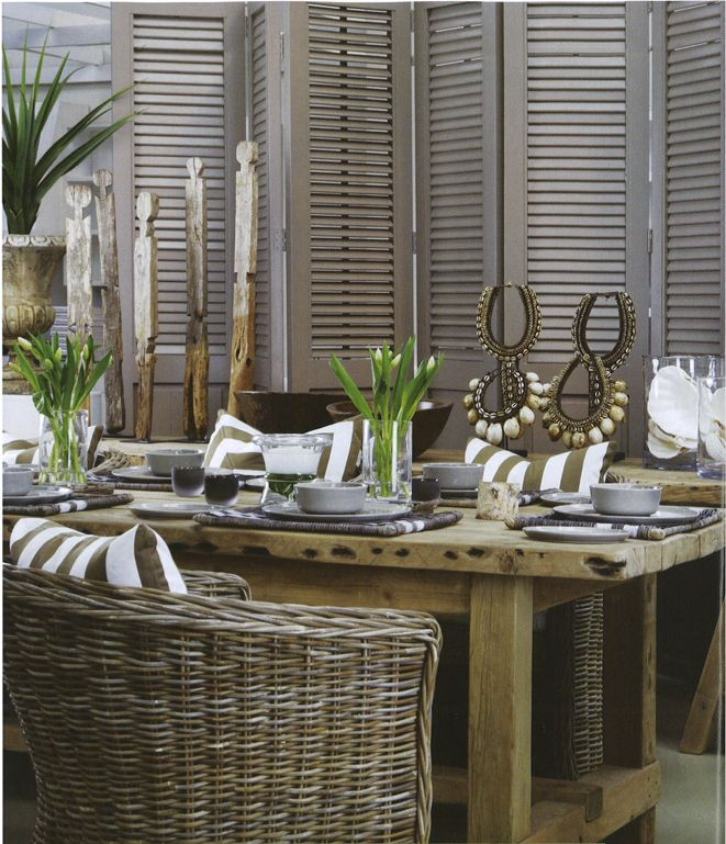 Lovely look for you Beach Dining room.
