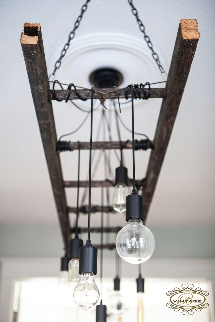 Edison Chandelier, Edison Bulb, Ladder Light, Industrial Decor, Industrial  Lighting, Antique