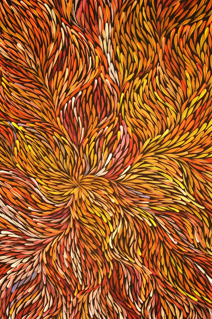 Aboriginal art from artist Jeannie Petyarre (Pitjara)