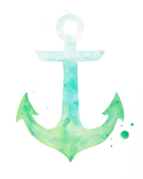 """just added to the shop: """"Hold Fast"""" ombre anchor print 8 x 10"""""""