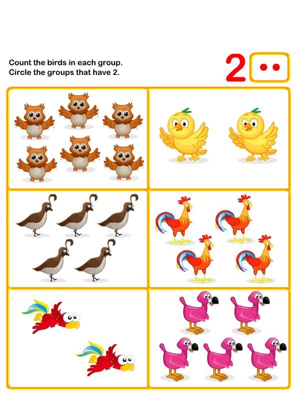 Math Worksheets, Kindergarten Worksheets
